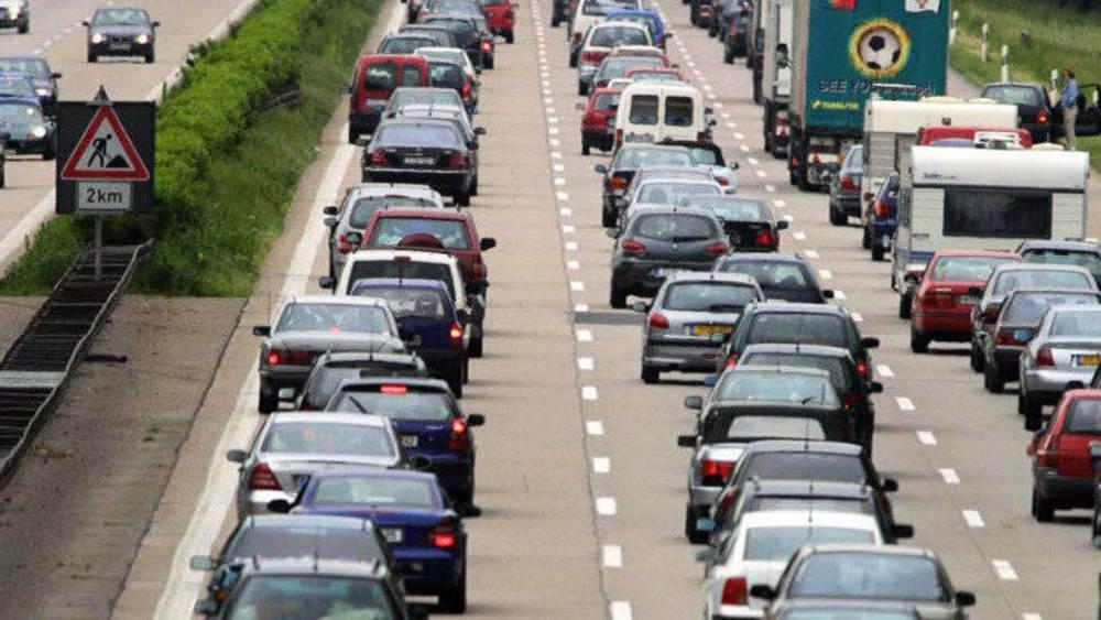 Verkehrsstörungen A8